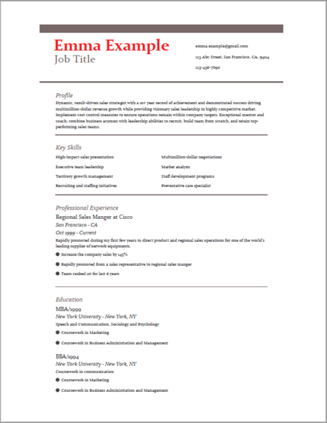 What Is The Best Resume Format For 2 5 Experience S W Developer