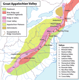 What state are the Appalachian Mountains in Quora