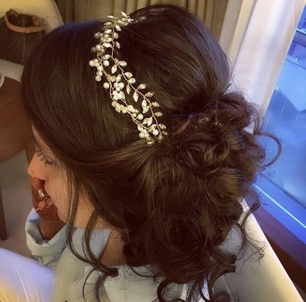 What hairstyle and accessories should one wear with a party gown ...