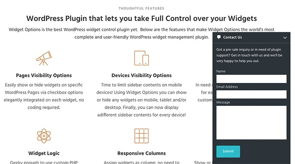 Which free WordPress plugin is used for making nice, responsive, and
