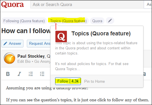 Image result for quora topic