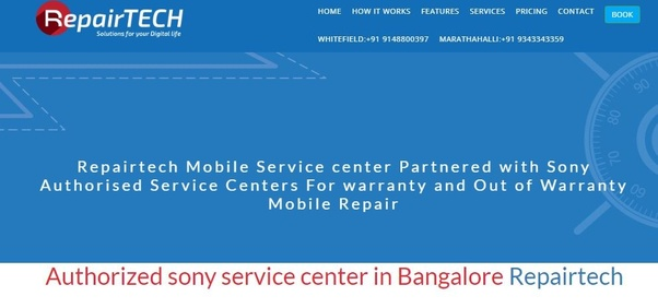 Where is the Sony Xperia mobile service center in Bangalore