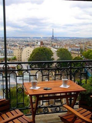 Le Terr Hotel Montmartre Is Ideally Situated On The Hill And With No Opposite Building One Of Most In Paris This View