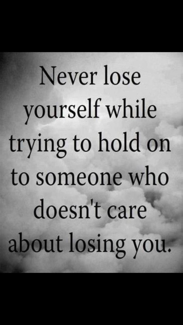 Losing somebody quotes