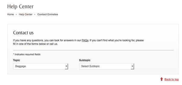 Comment déposer une plainte auprès du service clientèle de Emirates Airlines