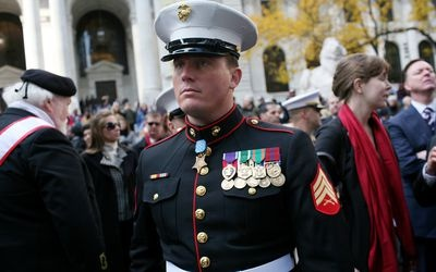 When a member of the military has a mass of service ribbons what