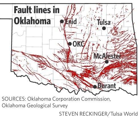 Oklahoma Fault Line Map What are the characteristics of Oklahoma's fault lines?   Quora Oklahoma Fault Line Map