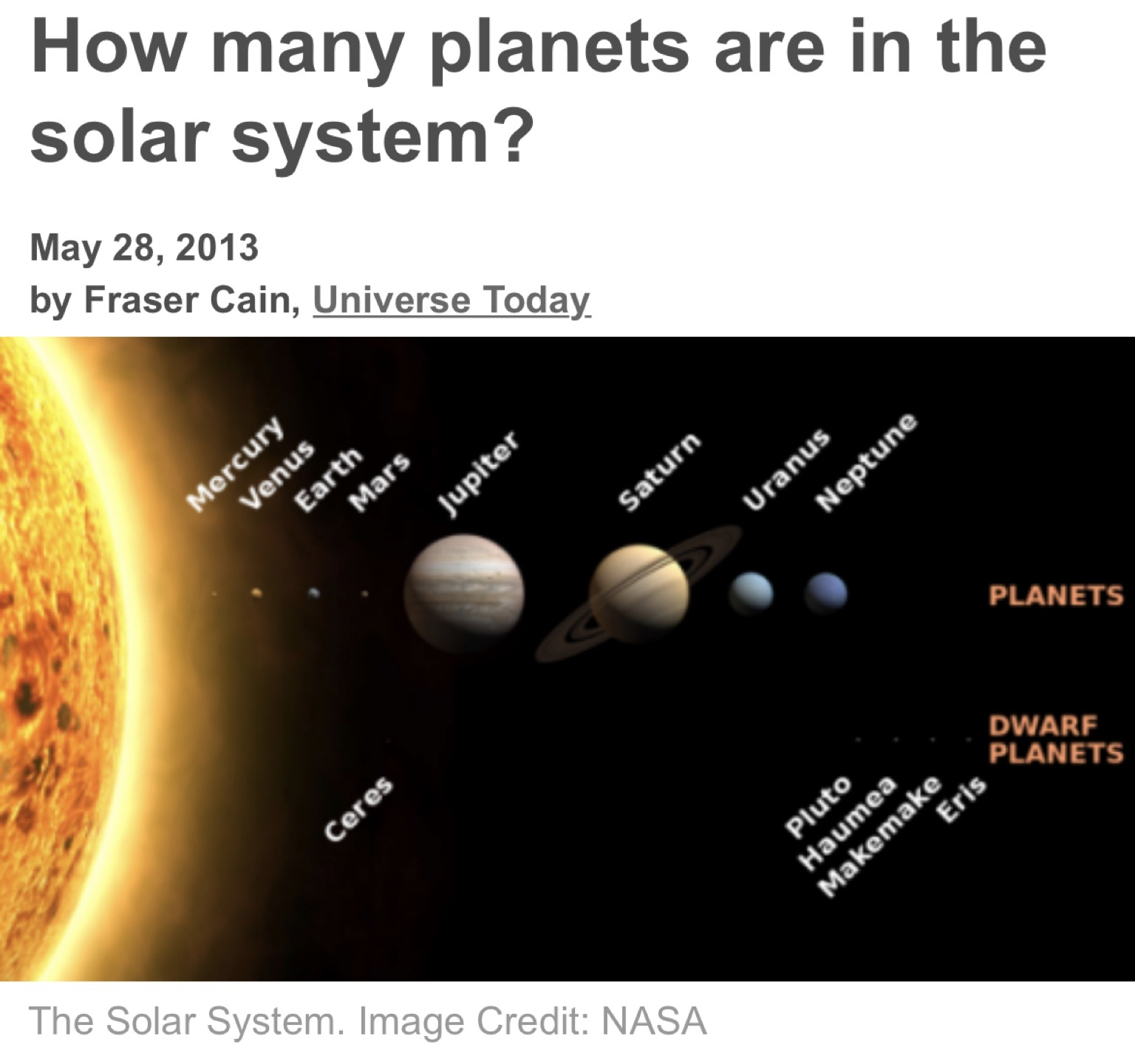 Who Discovered The Solar System How Was It Quora Universe Today Diagram Answer