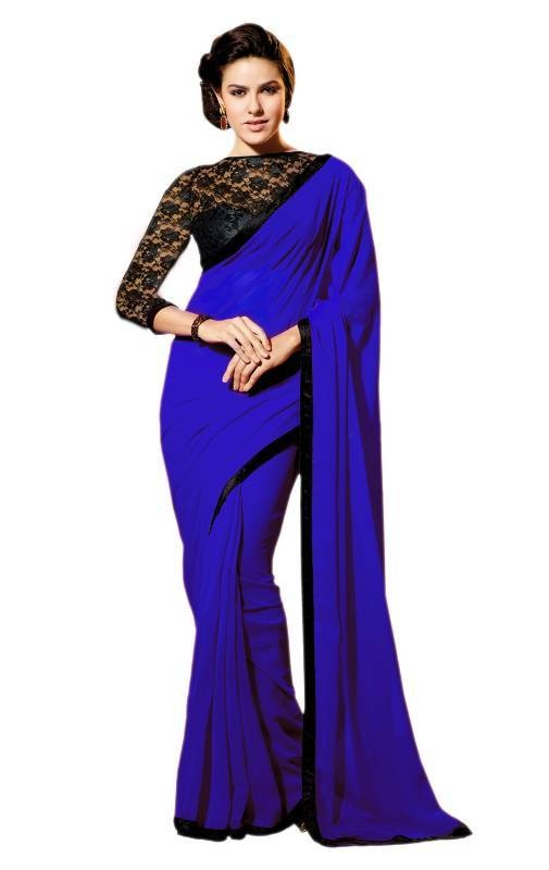 2fff718ac73f3a Black net blouse- If your saree is simple then wear a black net blouse for  a minimalistic and chic appearance.