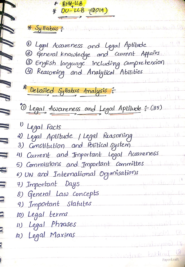 How to prepare for DU LLB 3 year entrance exam test - Quora