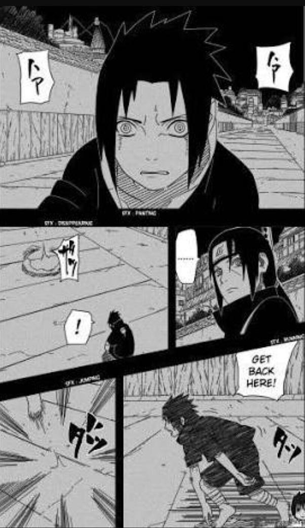 Chocho thinks that Sasuke is her dad