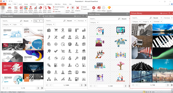 Where can i download powerpoint templates quora islide is a great powerpoint add ins that provide fancy templates icon library smart diagram library picture library and vector library toneelgroepblik Images