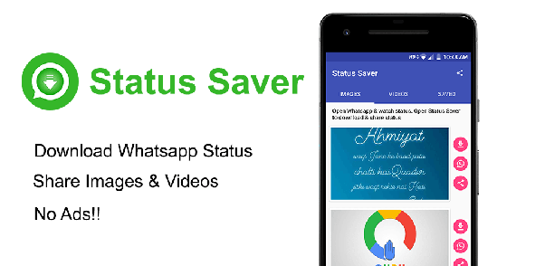 What is a way to download a WhatsApp status on an Android