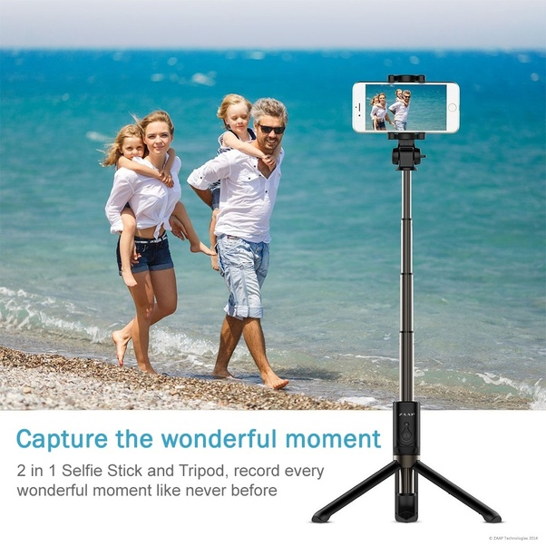 can you record a video with a selfie stick