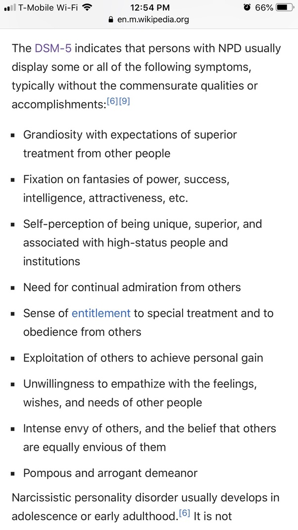 Would you describe each type of narcissistic personality