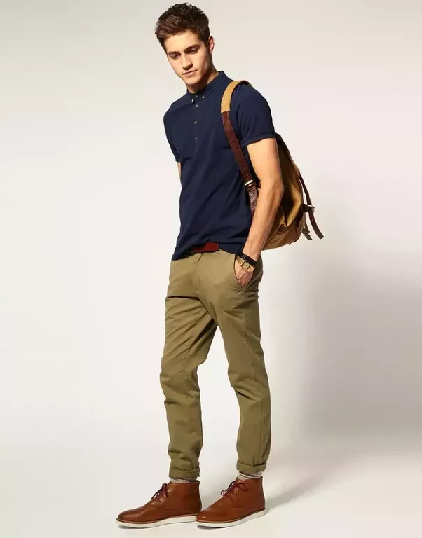 What color shirts goes best with cream color pants quora for What color shirt goes with brown pants