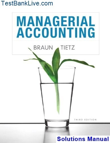 Managerial Accounting Garrison 12th Edition Solutions Manual Pdf
