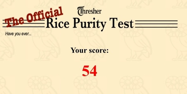 What is the rice purity test