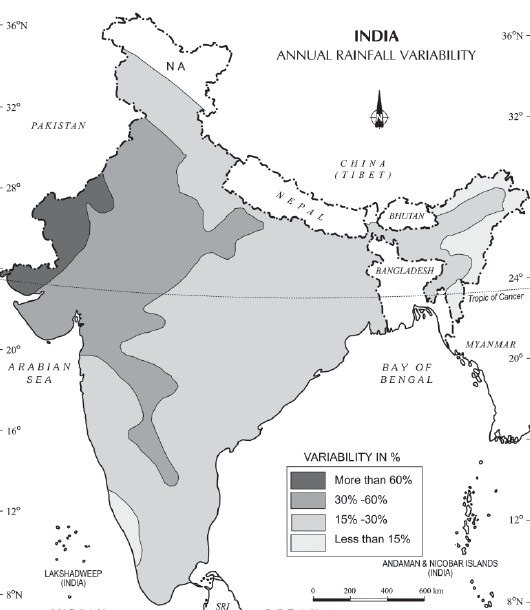 which winds bring rainfall in india