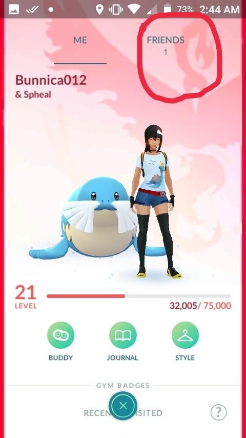 friend code pokemon go where to find