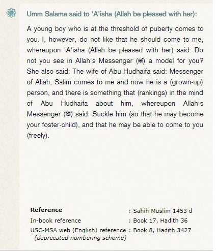 What does Sahih Muslim Volume 8 No  3424 say about