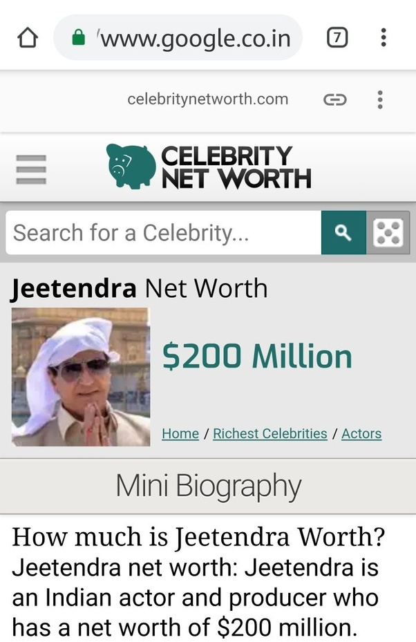 How come the net-worth of Jeetendra Kapoor is more than that