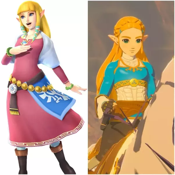 I could go on with a more in depth study of BoTW Zelda and really geek out but instead here is a side by side picture  sc 1 st  Quora & How is the character Princess Zelda from Breath of the Wild ...