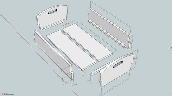 Click Here, Shaker Carry Box, Then Click Again In Center Of Image, For 3D.