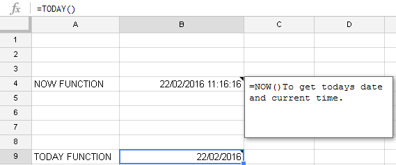 Get todays date