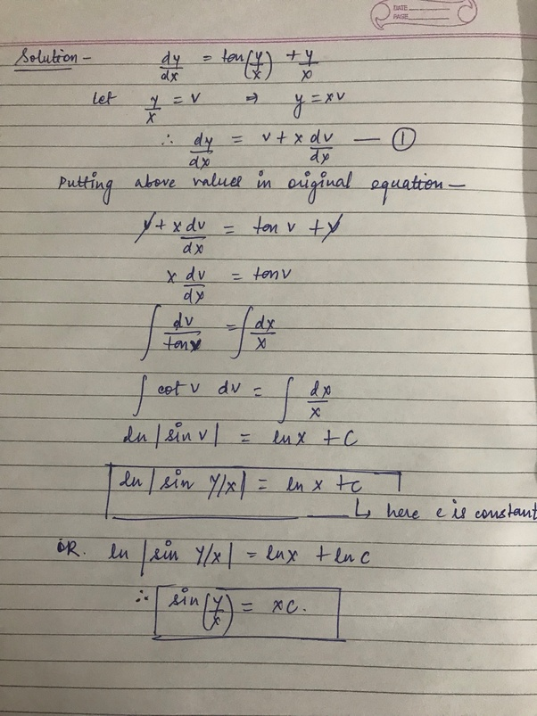 Example 9 - Find general solution of dy/dx = x+1 / 2-y - Examples