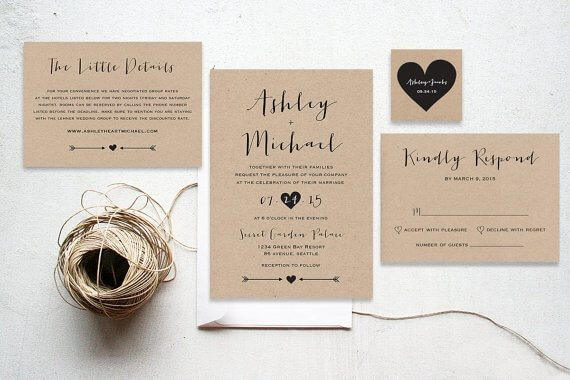 Lovely A Simple But Still Elegant Style Of Invitation For Your Wedding!