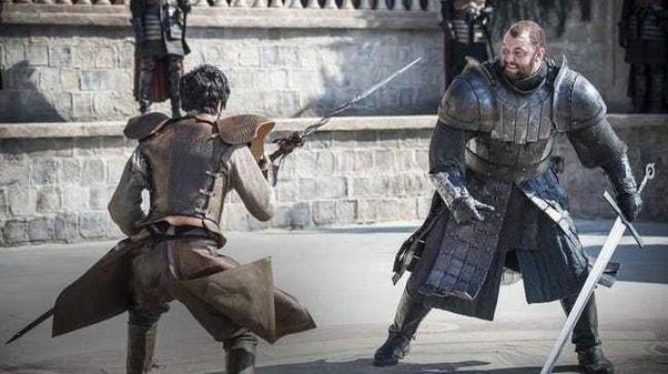 Trial by combat di serial TV Game of Thrones.