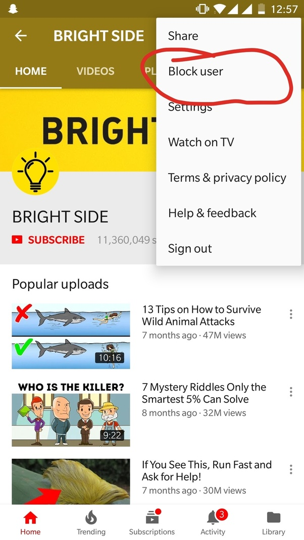Is there any way to block negative channels in YouTube? - Quora
