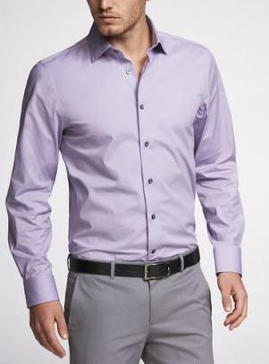 Eggplant Mens Dress Shirt