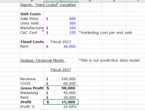 how to use the data table option under what if analysis in