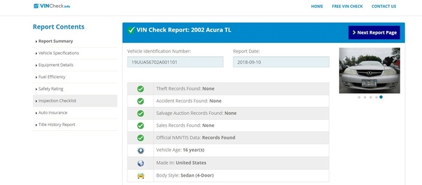 Free Car History Report >> Is There A Public Database Where You Can Look Up Vin Numbers To See