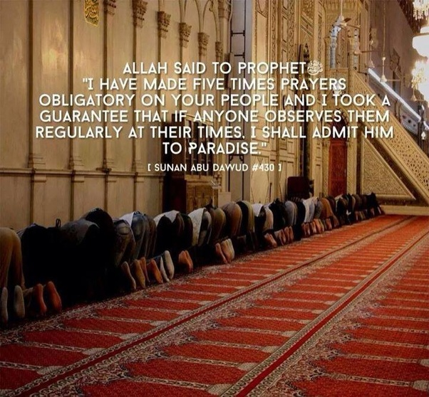 How many time is salat mentioned in the Holy Quran, 2 times or 5