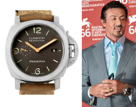 Who are some celebrities known for wearing panerai watches quora for Celebrity rocks watches