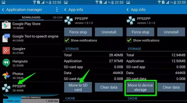 Play store apps wont download to sd card