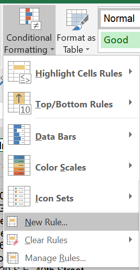 How to change a row colour based on the specific text input of one