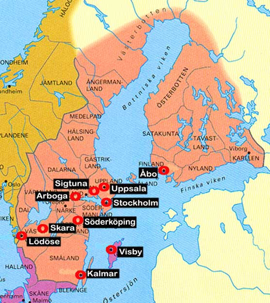 Finland why is 95 of the population native finnish speakers medieval sweden with the various counties of what is now finland publicscrutiny Gallery