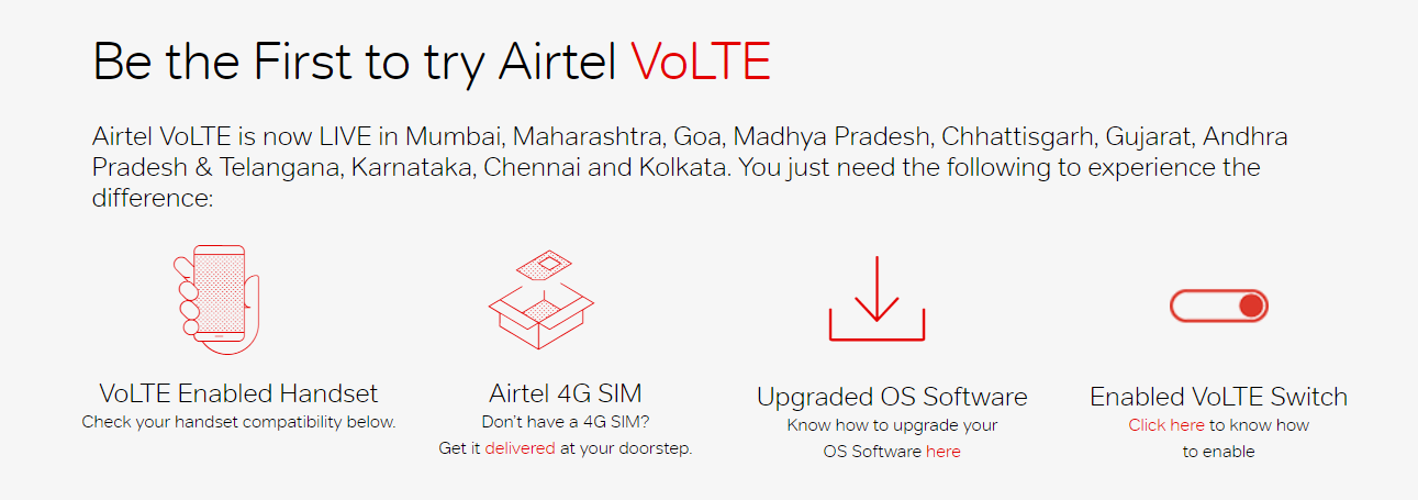 Why does my Samsung Galaxy A7 (2016) not support Airtel 4G VoLTE