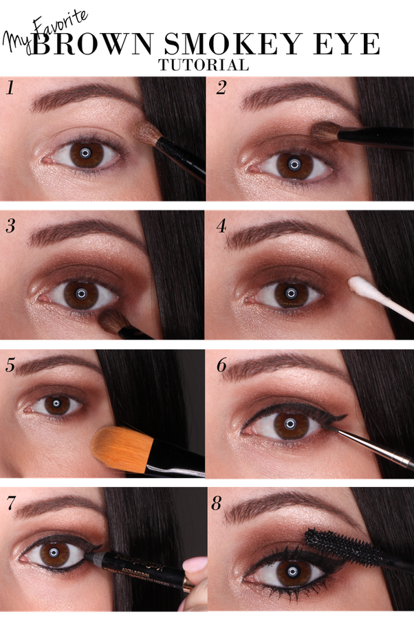 how to create a smokey eye for brown eyes