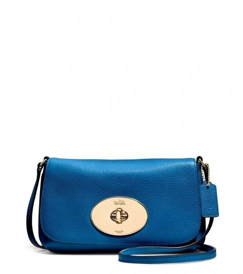 Coach Blue Small Turnlock Crossbody
