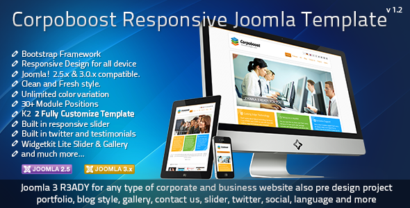 Top 10 responsive bootstrap joomla templates popular bootstrap this template build for joomla 258 and 302 version with bootstrap framework you can use this template for your corporate or company or your portfolio maxwellsz