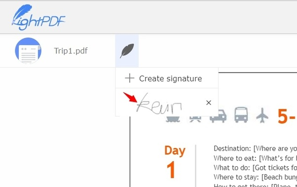 What is the best way of pasting an image of your signature