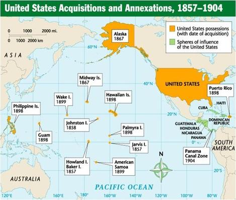 How Did The US Become A Superpower Despite Being Discovered - Us And Pacific Countries Maps