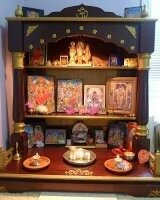 Below Is A Picture Of Puja Mandir Setup And The Furniture Shelf I Was  Referring To. Though Yours Doesnu0027t Have To Be Exact Or Very Close, But This  Image ...