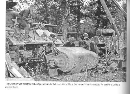 Why did most German tanks in WWII have the transmission at the front