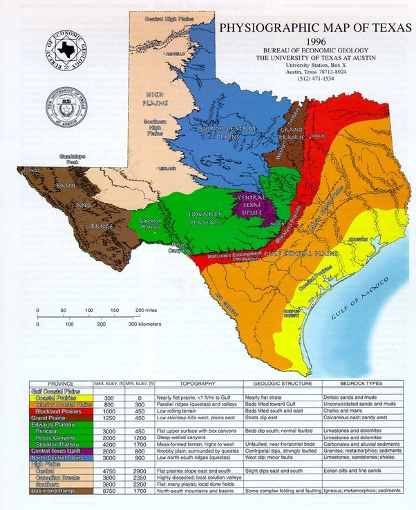 Map Of Texas 4 Regions.What Are The Four Regions Of Texas And How Do They Differ Quora